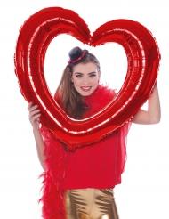 Ballon cadre en forme de cœur rouge