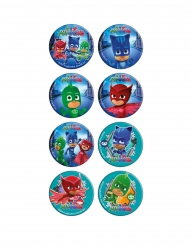 16 Mini disques en sucre Pyjamasques ™ 3,4 cm
