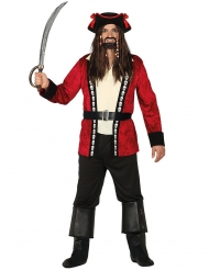 Déguisement capitaine pirate tête de mort homme