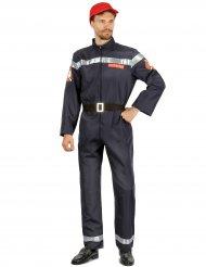 Déguisement pompier bleu homme