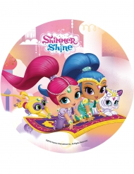 Disque azyme Shimmer and Shine ™ 21 cm