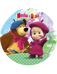 Disque en azyme Masha and Michka ™ 21 cm