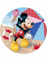 Disque en azyme Mickey ™ Mickey à la plage 21 cm
