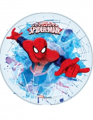 Disque en azyme Ultimate Spiderman™ blanc 21 cm
