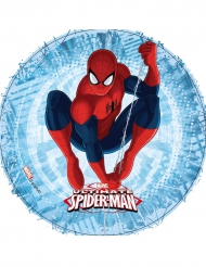 Disque en azyme bleu Ultimate Spiderman ™ 21 cm