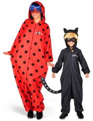 Déguisement de couple  Ladybug et chat noir Miraculous™ mère et fils