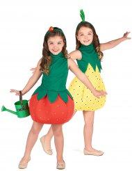 Déguisement de couple fruits fraise et ananas filles