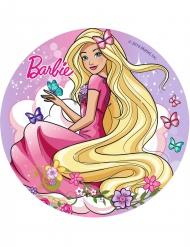 Disque azyme Barbie™ avec papillons 20 cm