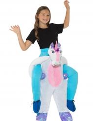 Déguisement enfant à dos de licorne
