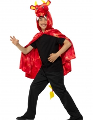 Cape dragon rouge enfant