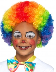 Perruque clown multicolore enfant