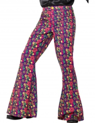 Pantalon hippie peace flower homme