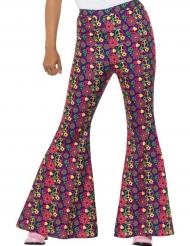 Pantalon hippie peace flower femme