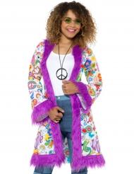 Manteau groovy années 60 femme