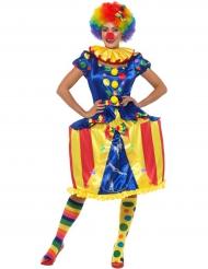 Déguisement clown avec caroussel lumineux femme