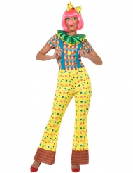 Déguisement combinaison de clown femme