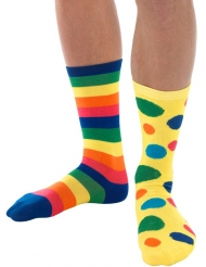 Chaussettes clown multicolore adulte