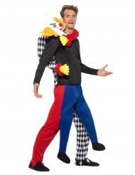 Déguisement clown dans le dos homme