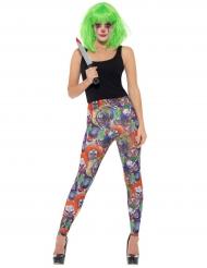 Legging clown maléfique femme