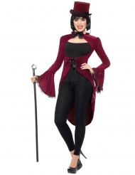 Queue de pie vampire gothique luxe rouge femme