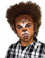 Kit maquillage loup-garou avec fausse fourrure enfant