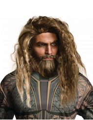 Perruque et barbe Aquaman™ adulte