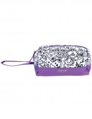 Trousse lavable à colorier violette avec 1 marqueur
