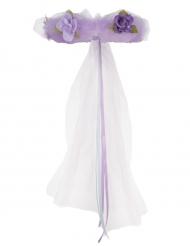 Couronne de Princesse en fleurs violette fille
