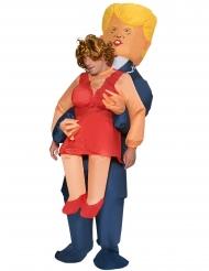 Déguisement homme porté par Trump gonflable adulte Morphsuits™