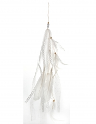 Suspension plume blanche 35 cm