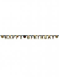 Bannière en papier Happy Birthday Lego Ninjago™ 200 x 15 cm
