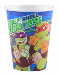 8 Gobelets en carton Tortues Ninja™ 266 ml