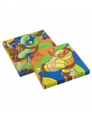 20 Serviettes en papier Tortues Ninja™ dessin animé 33 x 33 cm