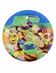 8 Petites assiettes en carton Tortues Ninja™ 18 cm