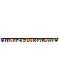Guirlande en carton Happy Birthday Smiley World™ 182 x 12 cm