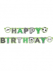 Bannière en papier Happy Birthday Football 2m