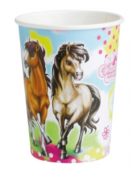 8 Gobelets en carton Charming Horses 250 ml