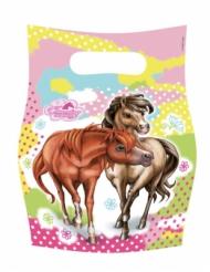 6 Sacs cadeaux Charming Horses