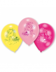 6 Ballons en latex Charming Horses 23 cm