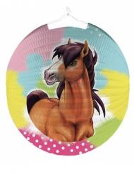 Lanterne ronde en papier Charming Horse 25 cm