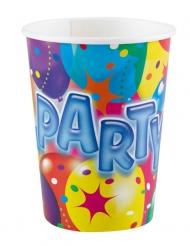 8 Gobelets en carton Party 250 ml