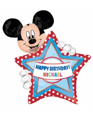 Ballon aluminium personnalisable Happy Birthday Mickey™ 60 x 76 cm