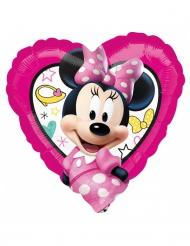 Ballon cœur aluminium Minnie™ 43 x 43 cm