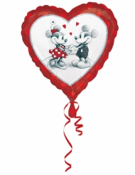 Ballon aluminium cœur Mickey™ & Minnie™ love 43 x 43 cm