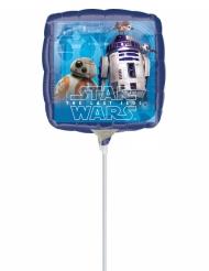 Petit ballon carré aluminium Star Wars™ 23 X 23 cm