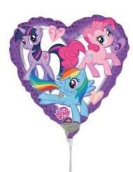 Petit ballon cœur aluminium  My Little Pony™ 23 x 23 cm