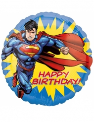 Ballon aluminium Happy Birthday Superman™ 43 cm