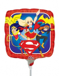Petit ballon carré aluminium DC Super Hero Girls™ 23 X 23 cm