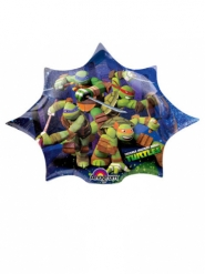 Petit ballon étoile aluminium Tortues Ninja™ 27 X 25 cm