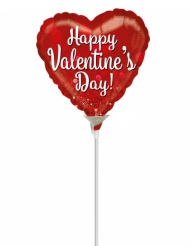 Petit ballon aluminium cœur Happy Valentine